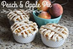 All Things Pink and Pretty: Peach & Apple Mini Pies