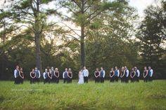 Large wedding party photo.