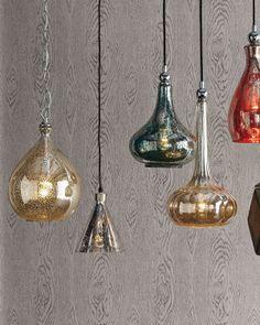 0417cdb224c Mercury-Glass Pendant Light - Horchow Mercury Glass Pendant Light