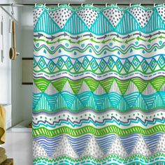 Lisa Argyropoulos Ocean T Shower Curtain