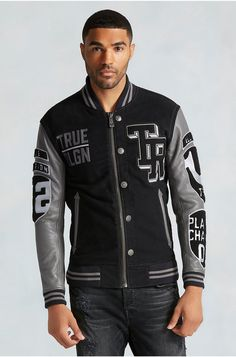 Kylie Jenner and Tyga Pulled Off the Ultimate High School Sweetheart Look Varsity Jacket High School, Varsity Jacket Outfit, Vest Jacket, Bomber Jacket, Leather Jacket, Mens Outdoor Jackets, Spirit Wear, Varsity Jackets, Biker Jackets