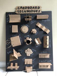 Cardboard Sculpture, Cardboard Furniture, Cardboard Crafts, Cardboard Design, Cardboard Paper, Diy With Kids, Art For Kids, Diy Paper, Paper Art