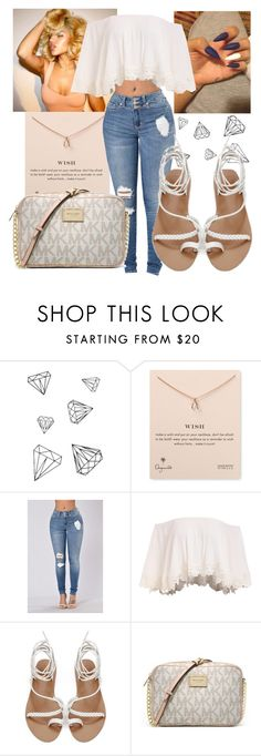 """""""Shine bright like a diamond"""" by littydee ❤ liked on Polyvore featuring WALL, Dogeared and Michael Kors"""