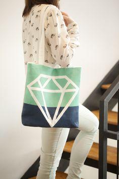 #diy diamond painted tote