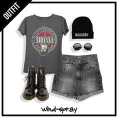 OUTFIT: Remera Básica Black Mel + Short Skater Stone Black