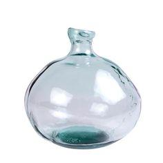 NATURAL Vaso trasparente H 33 cm; Ø 33 cm_natural-vaso-trasparente-h-33-cm;-ø-33-cm Vase Vert, Vase Transparent, Pot Pourri, Wine Decanter, Natural, Barware, Glass Vase, Spain, Plant
