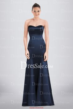 Concise Sweetheart Satin Bridesmaid Dress Featuring Seamed Detail and Trumpet Skirt