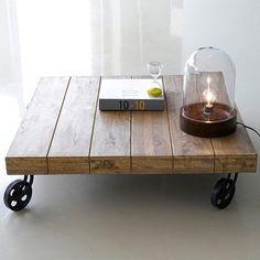5600,- Konferenční stolek Devi WDDEVICOFM, indický industriální nábytek   AV interiéry
