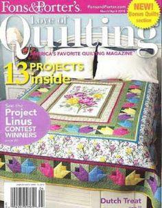 Журналы по вязанию и рукоделию.: Love of Quilting №86 2010