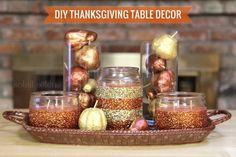 We LOVE #glitter! #DIY Thanksgiving Table Decor by @Kat Ellis Zgoda Selene #turkeytablescapes