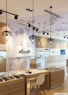 Jewerly Store Design Shelves Home Decor 33 Trendy Ideas Optometry Office, Gold Sofa, Optical Shop, Sofa Shop, Retail Interior, Boutique Design, Shop Interiors, Commercial Design, Retail Design