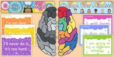Developing Growth Mindset Display Pack - A simple display idea, with 10 popular growth mindset statements set out in pairs ready to put up on the wall. Growth Mindset Display, What Is Growth Mindset, Growth Mindset Posters, Change Your Mindset, Primary Resources, School Resources, Effective Learning, Classroom Displays, Classroom Organisation
