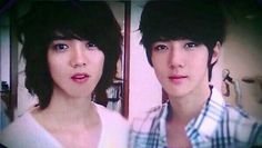 HunHan predebut :3?>>>> Okay, Sehun looks good, but wtf is with that hair Lu????>>>He really looks like girl in this picture