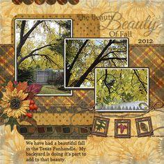 Autumn, layout by scrap happy