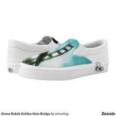 Green Bokeh Golden Gate Bridge Printed Shoes