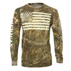 Cody James® Men's Camo American Flag Long Sleeve Shirt