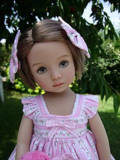 "Dianna Effner's 13"" Little Darling doll painted by?"