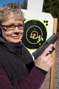 A half hour of basic instruction in the fundamentals of shooting a pistol can get you up and running with good technique. Just ask Corrina Peterson. - Corey