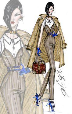 Hayden Williams, Moda Fashion, Fashion Art, Fashion Models, Fashion Beauty, Fashion Illustration Sketches, Fashion Design Sketches, Bollywood Fashion, Fashion Killa