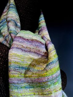 Handwoven Silk and Wool Scarf: Folle by mmhandwovens on Etsy