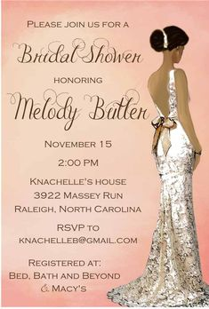 African American Bridal Shower Invitations Make Her Bridal Shower