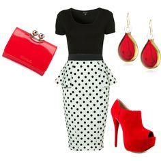 """Red Hot"" by desn07 on Polyvore"