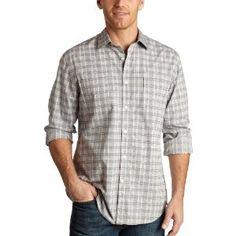 Perry Ellis Men's Fine line Check Shirt (Apparel)