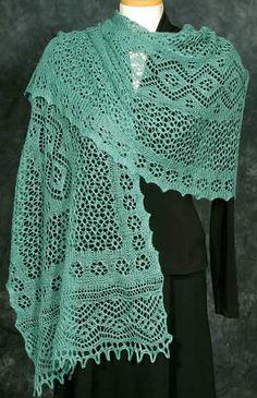 Arabesque Stole #Fiddlesticks Knitting
