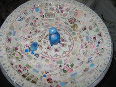 My Mosaic birdbath