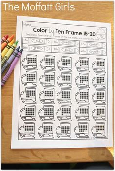Color by Ten Frame!  Count and color by the code!  What a FUN way to work on number sense with TEN FRAMES!