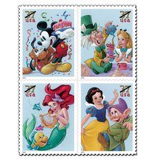 Disney Cartoons on Postage Stamps, Stamp News Publishing Cute Disney, Disney Art, Walt Disney, Disney Stuff, Winnie Poo, Postage Stamp Art, Disney Kunst, Disney Scrapbook, Disney Pictures