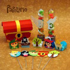 Kit personalizado festa Peter Pan.  www.papelarie.com.br