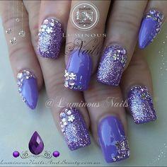 purple • glitter • rhinestones