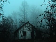 Creepy, lonely house emerges from the fog...