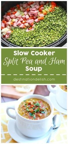 Slow Cooker Split Pea and Ham Soup