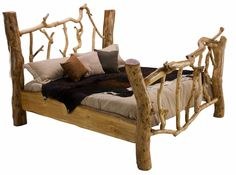 Rustic bed made from Sycamore branches