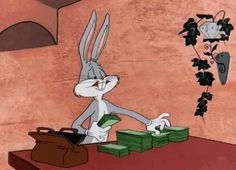 Discover & share this Looney Tunes GIF with everyone you know. GIPHY is how you search, share, discover, and create GIFs. Cartoon Wallpaper, Disney Wallpaper, Looney Tunes Bugs Bunny, Looney Tunes Cartoons, Vintage Cartoons, Classic Cartoons, Classic Cartoon Characters, Money Animation, Cartoon Mignon