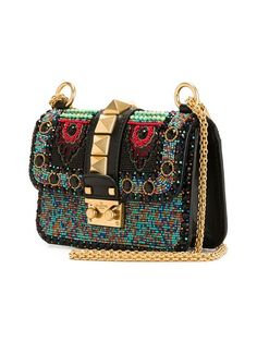 Valentino Garavani 'Glam Lock' beaded shoulder bag