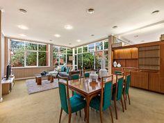 Mid Century Interior Home Caulfield North Australia Dario Zoureff Custom Built in Room Divider Furniture Dining Setting - Pinned by 360 Modern Furniture