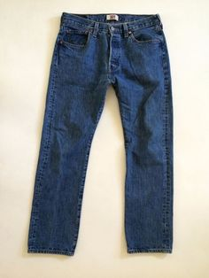 LEVIS 501 xx Mens Jeans W34 L31 Button Fly Straight Leg Distressed Stonewashed #Levis #ClassicStraightLeg