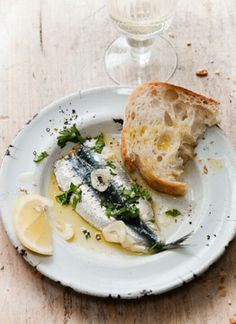 Garlic Olive Oil Fish and Bread