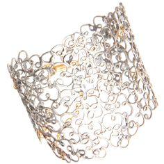 JUDY GEIB  Silver & Gold Filigree Meanderer Bracelet