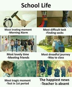Hahahahaha true if it school life was or is much more related to dis or is exactly like dis.I am in school and its true that nothing is like school life Latest Funny Jokes, Very Funny Jokes, Crazy Funny Memes, Really Funny Memes, Funny Facts, True Facts, Hilarious, Best Friend Quotes Funny, Cute Funny Quotes