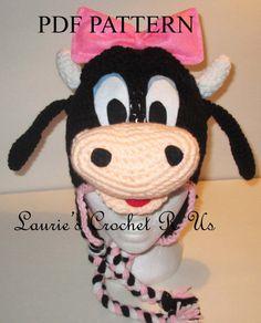PDF crochet pattern Clarabelle Inspired hat by Lauriescrochetrus, $6.00