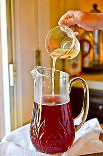 Hibiscus tea lemonade! A fruity, floral take on a classic summer drink. #yum Forks, Hibiscus Tea Recipe, Summer Drinks, Heaven, Glass, Strawberri Hibiscus, Strawberry Lemonade, Drink Recipes, Tea Lemonad