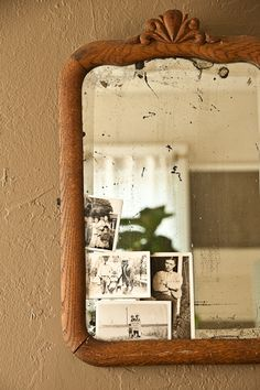 I love old mirrors!