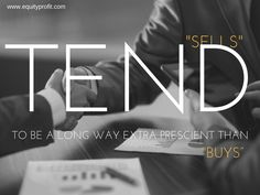 #Sells tend to be a long way extra prescient than #buys .. www.equityprofit.com