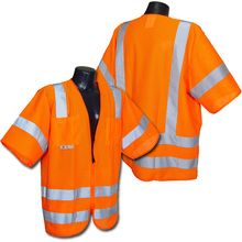 Radians Hi Vis Green Mesh Vest Class 3 SV83OM | Hi Vis Safety Direct , will be any price , call us for direct pricing !