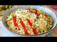 Tapas, Coleslaw, Salad Recipes, Potato Salad, Good Food, Appetizers, Mexican, Potatoes, Cooking