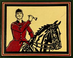 Rare 1946 PAUL DESMOND BROWN Calendar SIGNED Horse Equestrian Polo Fishing Golf